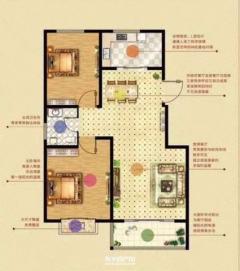东平县城榕侨·中央公馆两室两厅一卫毛坯房出售