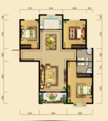 東平清河學校學區房 御景華庭3室2廳2衛120m2精裝修
