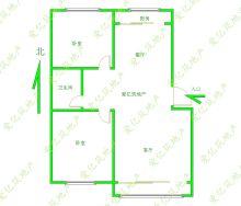 東平縣港基文華園2室2廳1衛82m2精裝修