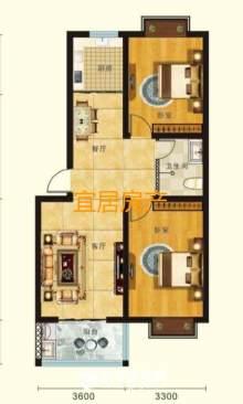 东平县圣岳美地2室2厅1卫90m²毛坯房