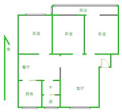 东平县佛山小区3室2厅1卫110m²精装修