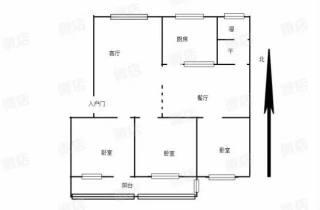 (城中心)佛山小区3室2厅1卫74m²简单装修