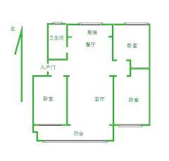 东平县书香雅居3室2厅1卫1000元/月125m²简单装修出租,家具齐全,拎包入住